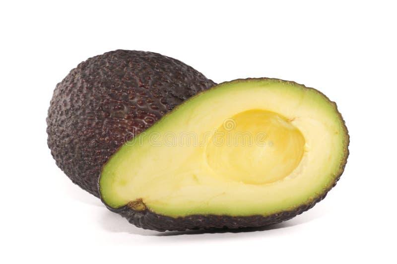Avocado cut in half stock photo