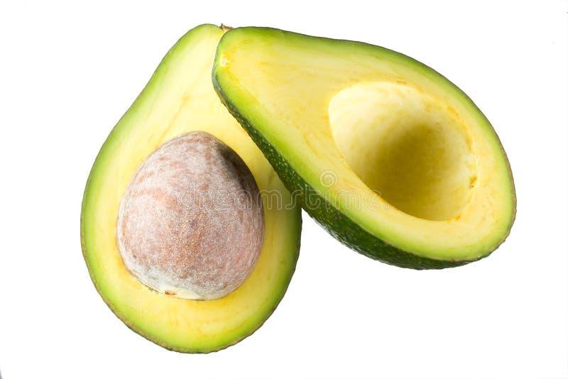 Avocado. De geïsoleerde helft met kern royalty-vrije stock foto's