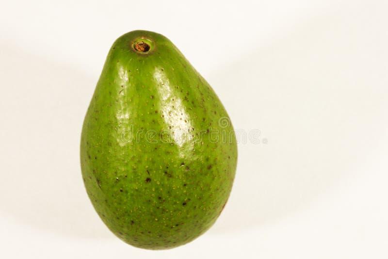 Avocado die op witte achtergrond wordt ge?soleerd stock afbeelding