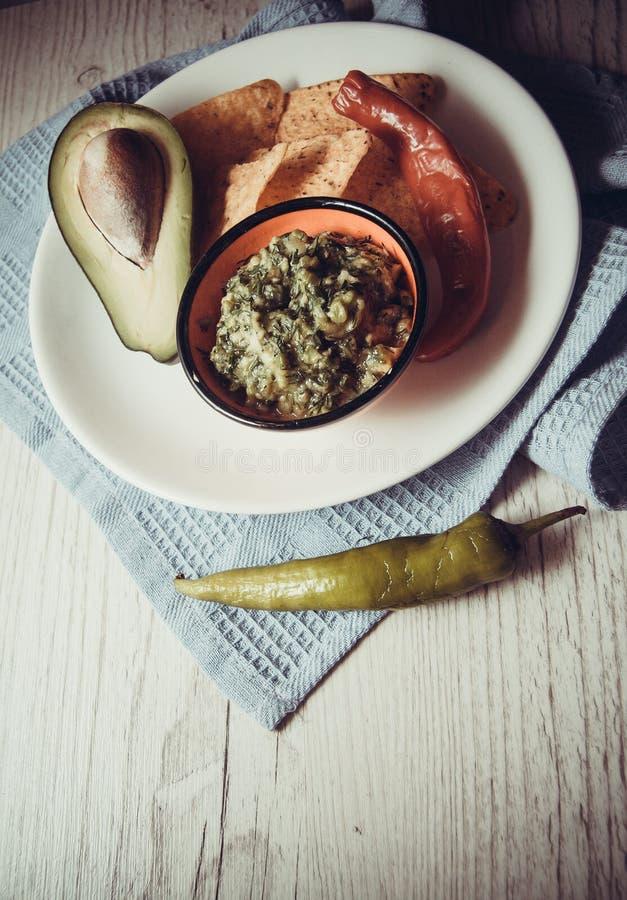 Avocado e guacamole fotografie stock libere da diritti