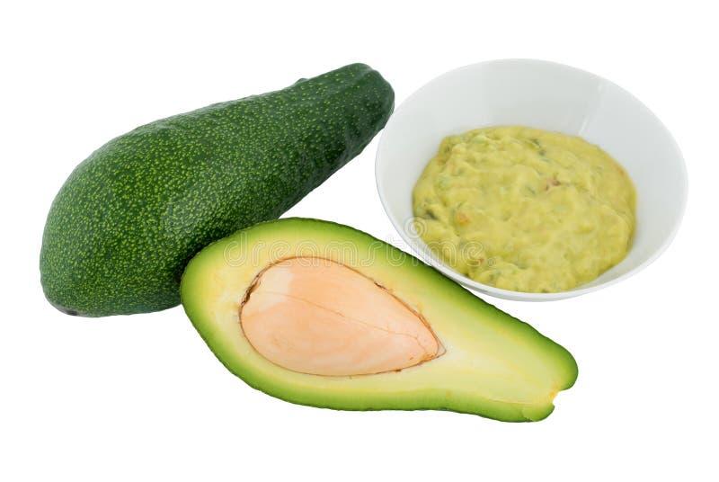 Avocado en guacamole royalty-vrije stock fotografie