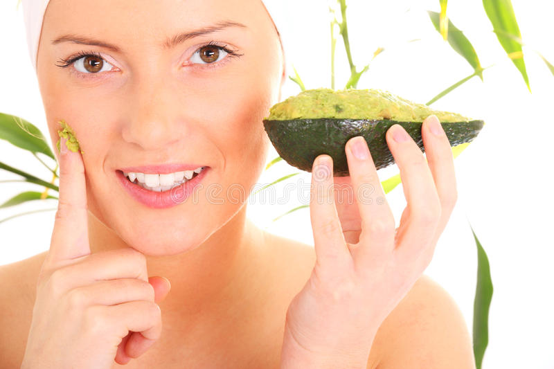 Download Avocado facial mask stock image. Image of person, female - 23357763