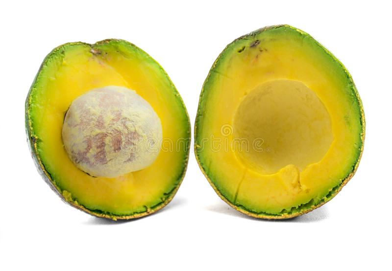 Avocado qua bo Vietnam. Avocado is famous in highland areas in Vietnam such as Dalat, Tay Nguyen, Lam Province... Ripe avocados that yield to gentle pressure royalty free stock images
