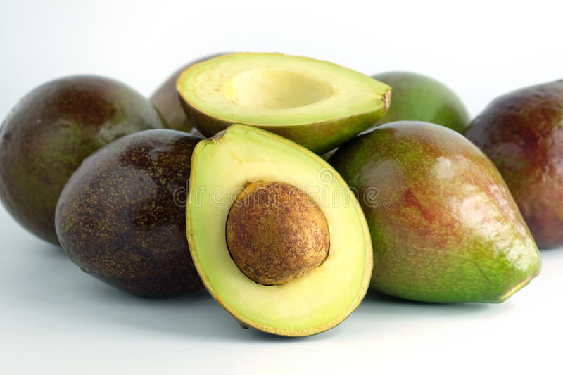 Avocado gezond fruit royalty-vrije stock foto's