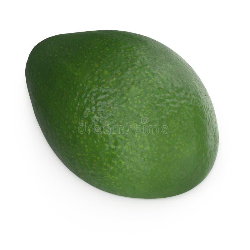 Avocado-H?lfte lokalisiert auf wei?er Illustration des Hintergrund-3D lizenzfreie stockfotografie