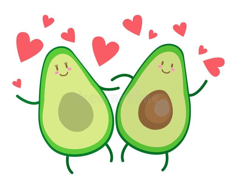 Avocado miłości kierowi jaskrawi grżą fotografia stock