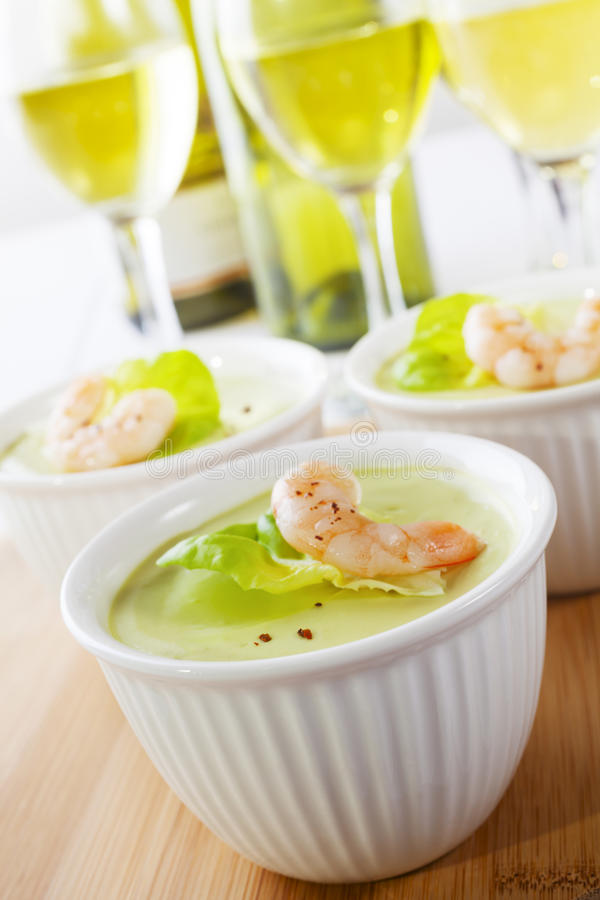 Download Avocado Mousse with Prawn stock image. Image of glass - 25634513