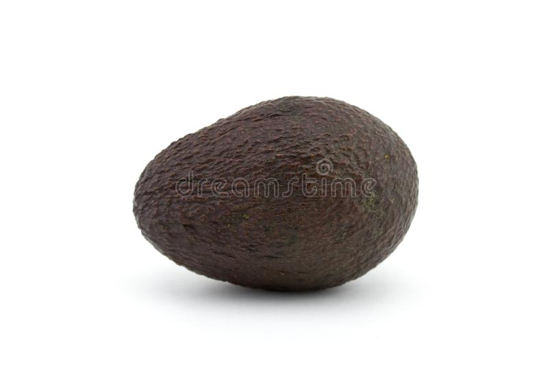 Avocado o avocado su fondo bianco L'avocado ha molte sostanze nutrienti fotografia stock