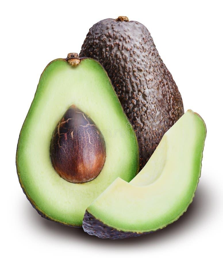 Avocado op witte achtergrond stock afbeelding