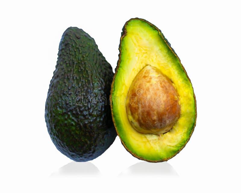 Avocado op witte achtergrond stock foto