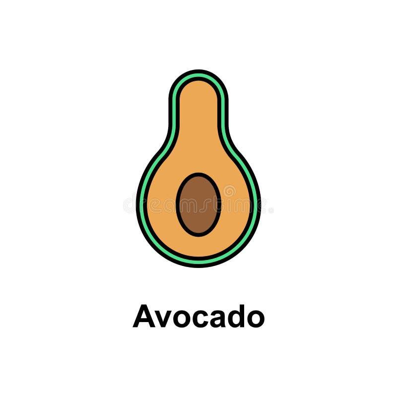 Avocado, owocowa ikona Element Cinco de Mayo koloru ikona Premii ilości graficznego projekta ikona Znaki i symbol kolekci ikona ilustracja wektor