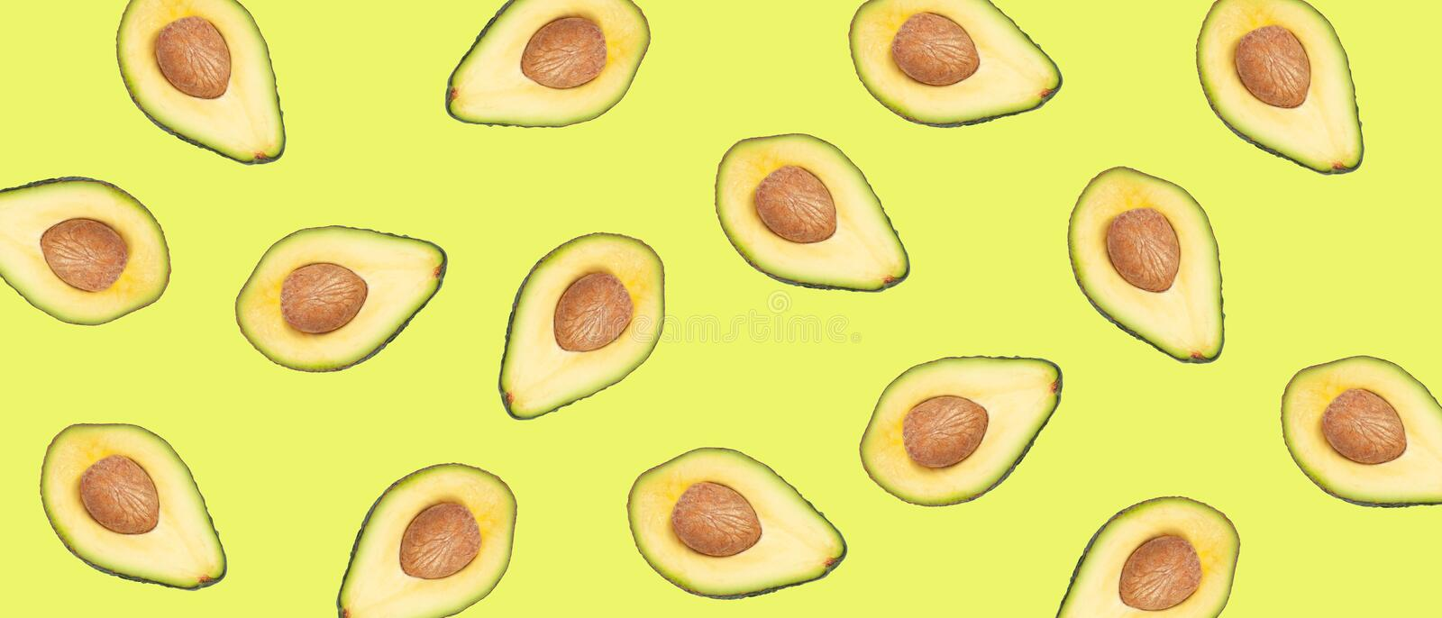 Fresh avocado pattern stock images