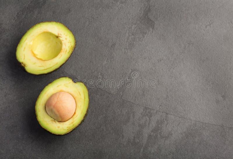 """Avocado - persea americana """"Hass """" Vista superiore immagine stock libera da diritti"""