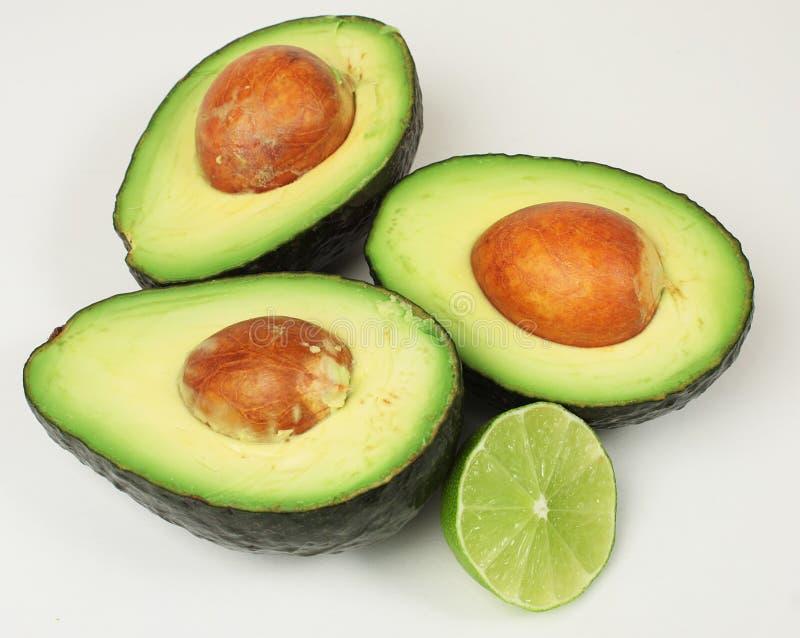 avocado połówek wapna plasterek obraz royalty free
