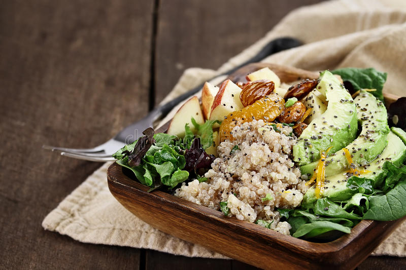 Avocado and Quinoa Salad royalty free stock images