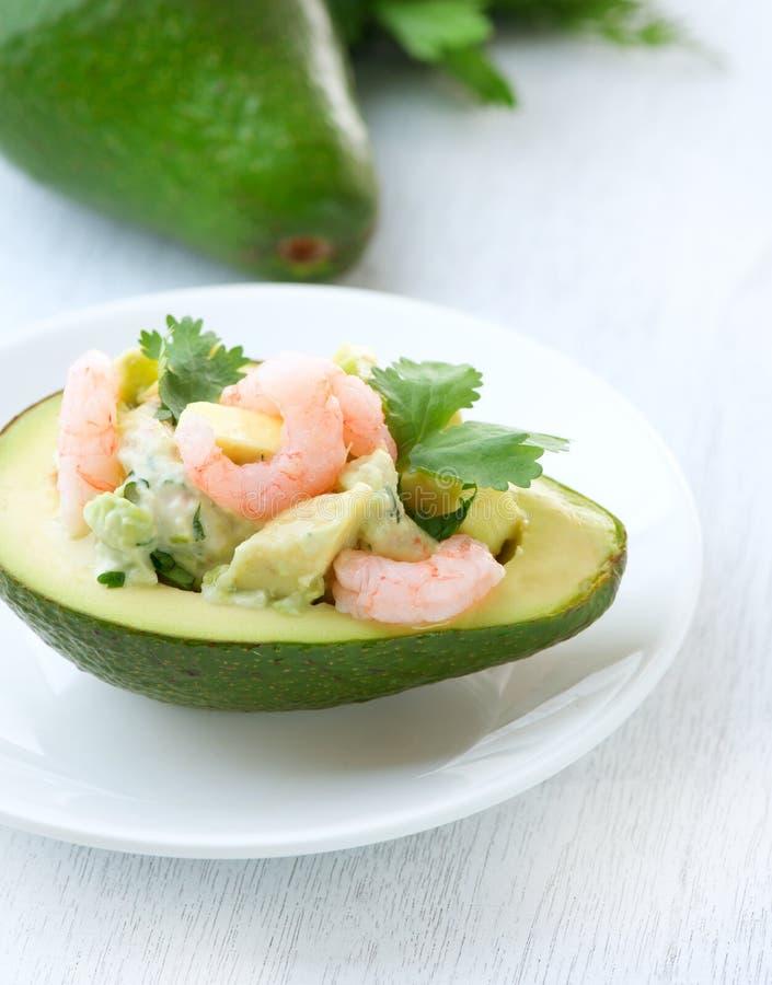 avocado sałatki garnele obrazy royalty free