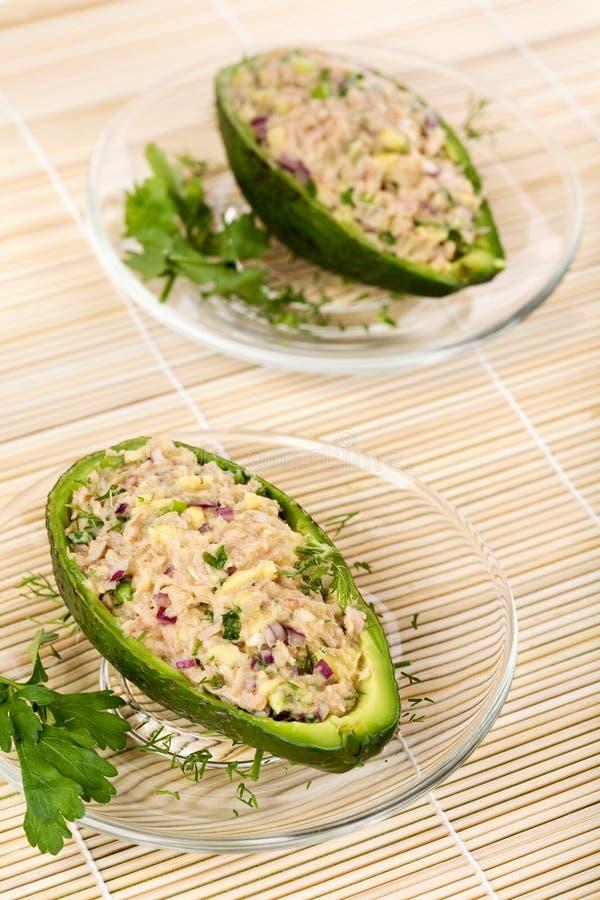 avocado sałatki tuńczyk zdjęcie stock