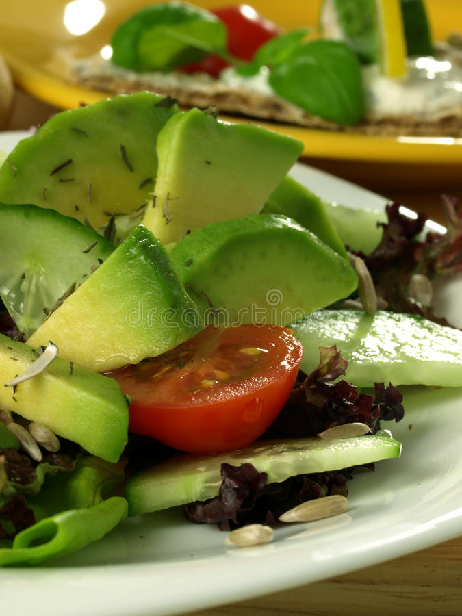 Avocado salad stock photography
