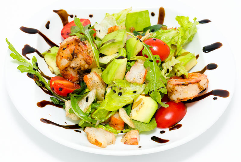 Download Avocado and shrimps salad stock photo. Image of crisp - 24025600