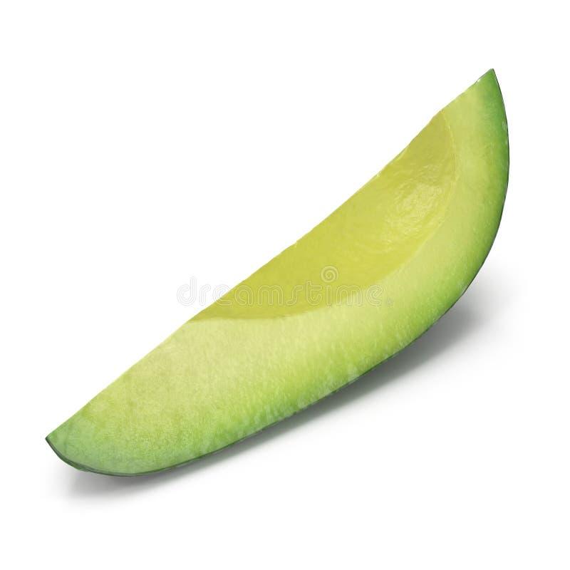 Avocado Slice Isolated on White Background 3D Illustration. Avocado Slice Isolated on White Background. 3D Illustration royalty free illustration