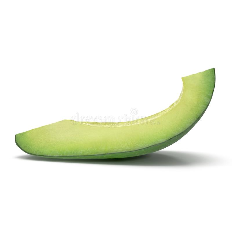 Avocado Slice Isolated on White Background 3D Illustration. Avocado Slice Isolated on White Background. 3D Illustration vector illustration