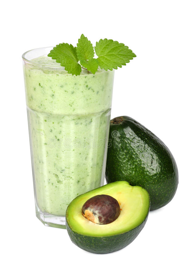 Avocado smoothie royalty-vrije stock foto's