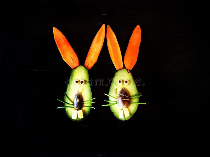 Avocado-Spaß-Aperitif für Kinder lizenzfreie stockbilder