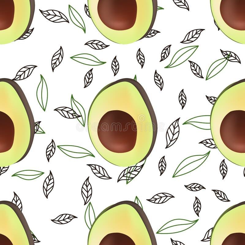 Avocado tkaniny tekstury bezszwowy wz?r dla druku projekta Abstrakcjonistycznego koloru naturalny egzotyczny t?o Jarski karmowy r royalty ilustracja