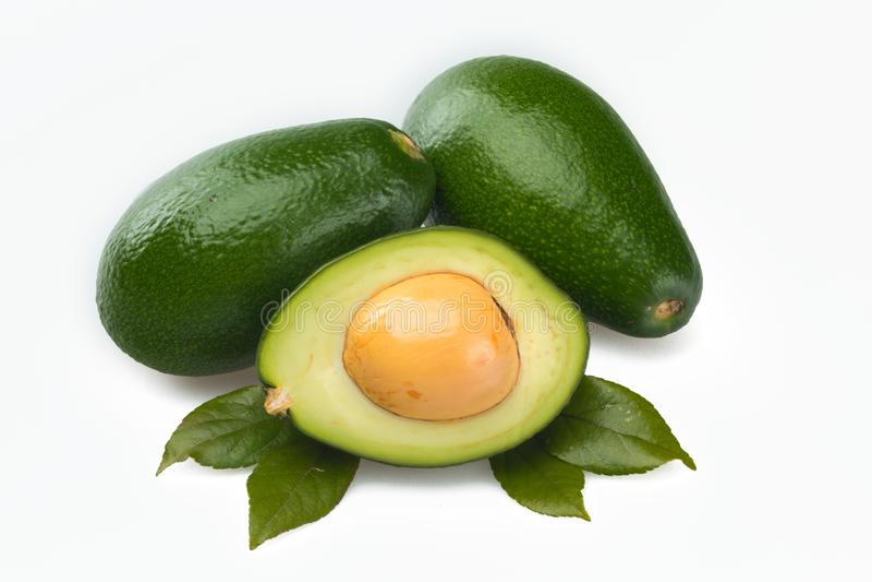 Avocadodecoratie royalty-vrije stock afbeelding