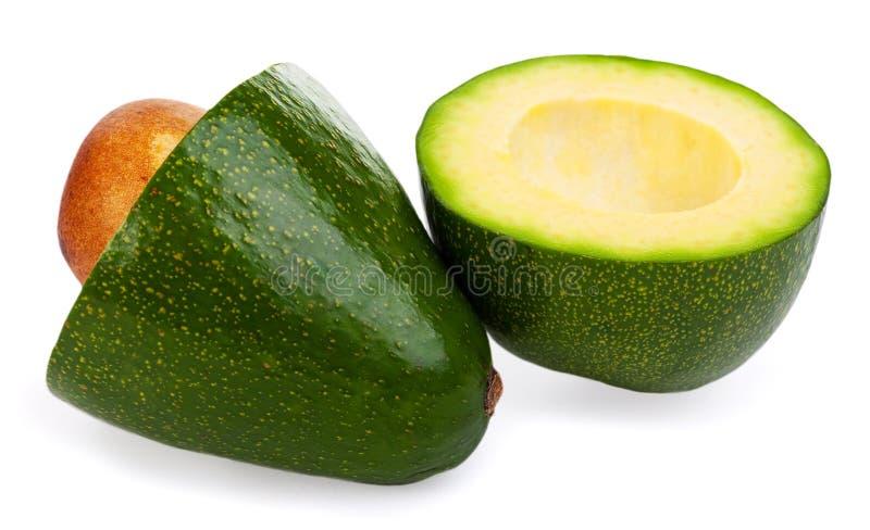 Avocados na biały tle zdjęcia royalty free
