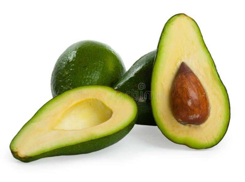 avocados tła odosobniony biel zdjęcia stock