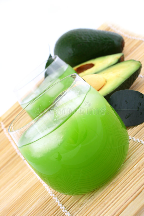 Avocadosaft stockfoto
