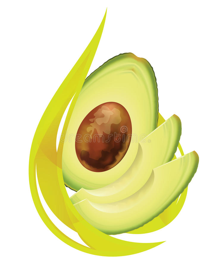 Avocadoschmieröl. stock abbildung
