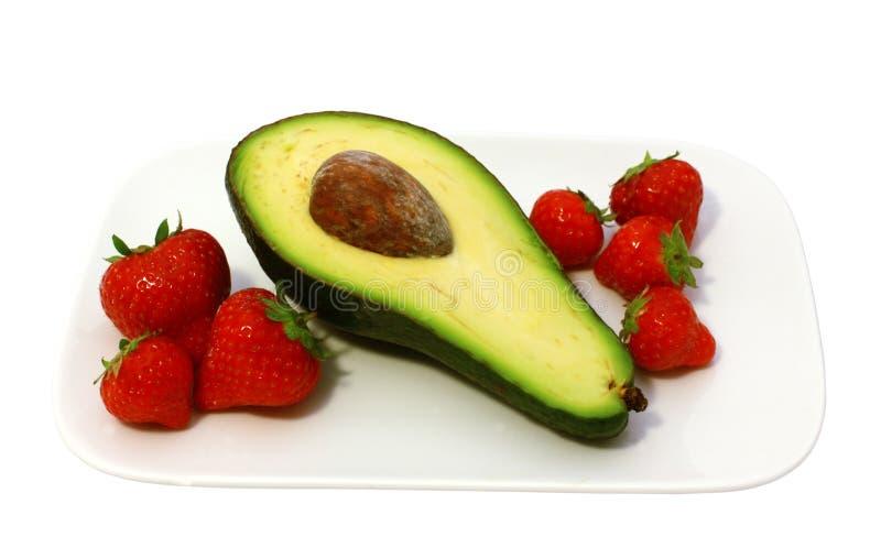 Avocat avec la fraise photos libres de droits