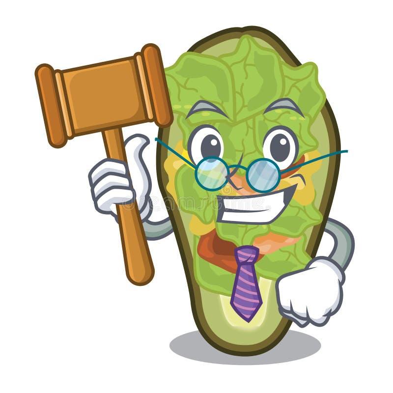Avocat bourré par juge dans la forme de mascotte illustration stock