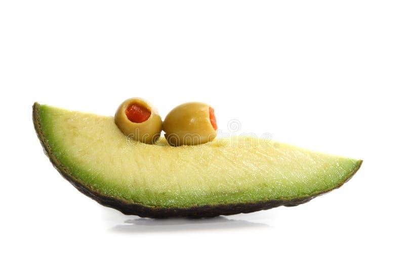 Avocat et olives image stock