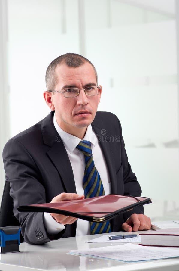 Avocat sur son lieu de travail image stock