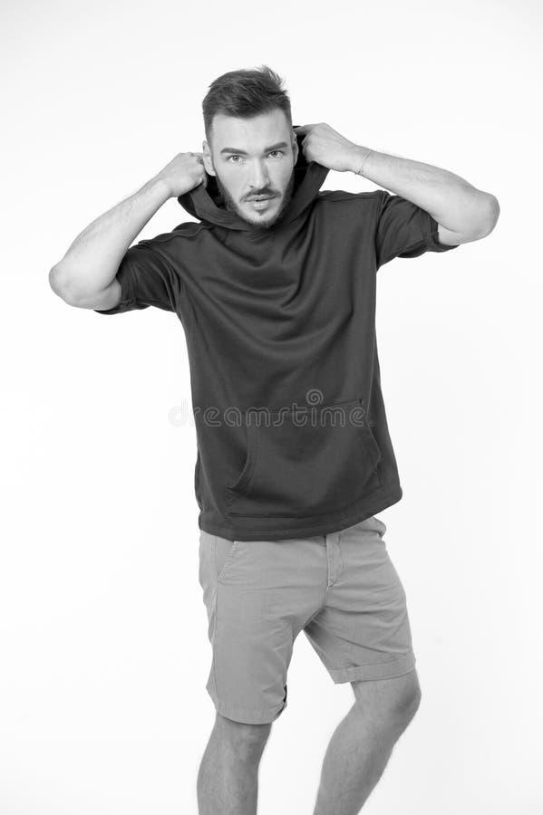 Avoid портретируя как подросток Подсказки стиля должны помочь вам одеть лучше Человек при положенная одежда платья бороды вскольз стоковое изображение