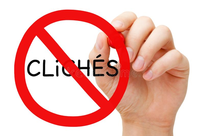 Avoid Cliches Prohibition Sign Concept royalty free stock photography