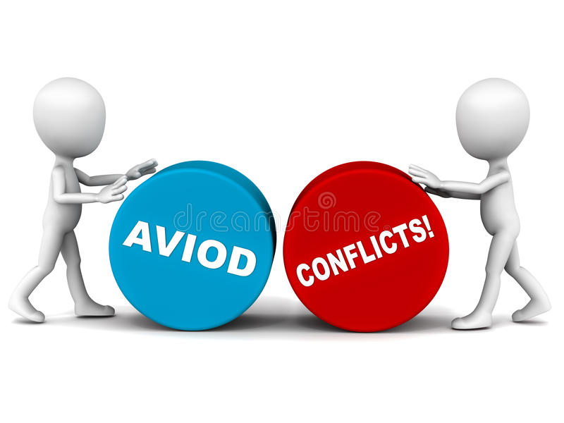 Download Avoid conflict stock illustration. Image of conflicting - 29010709