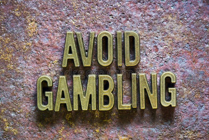 Avoid gambling royalty free stock photography