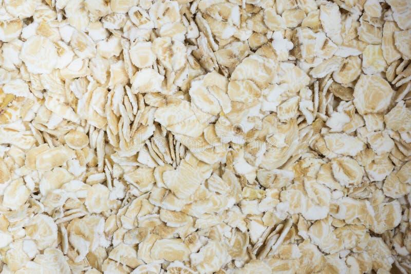 Avoine et farine d'avoine dans une fin de conteneur vers le haut de macro tiré photo libre de droits