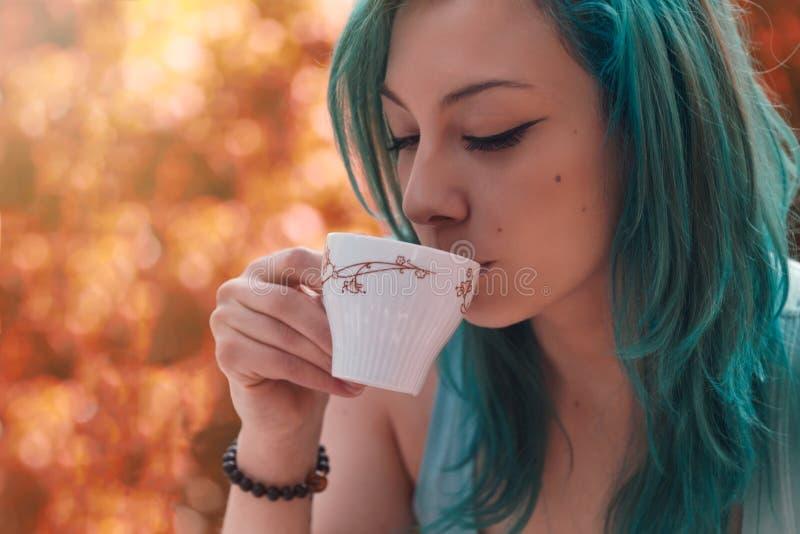 Avoir le thé photo libre de droits