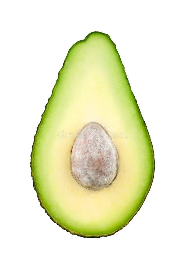 Avokado som är half med stenen royaltyfria foton