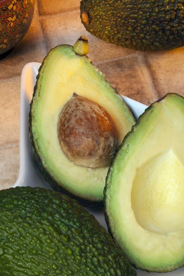 Avokadon - avocado royaltyfria foton