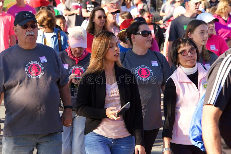 AVON Breast Cancer 5K walk for a cure in Walnut Creek, CA stock images