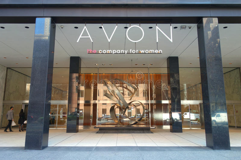 Avon Headquarters. The headquarters of Avon Products, in Midtown Manhattan. Avon is a manufacturer and distributor of beauty, household, and personal care royalty free stock image