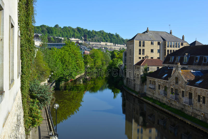 Avon River. Backsides of Avon River in Bristol, United Kingdom royalty free stock images