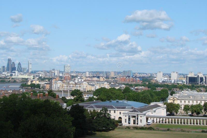Avond Londen Stadslandschap van historische districten stock afbeelding