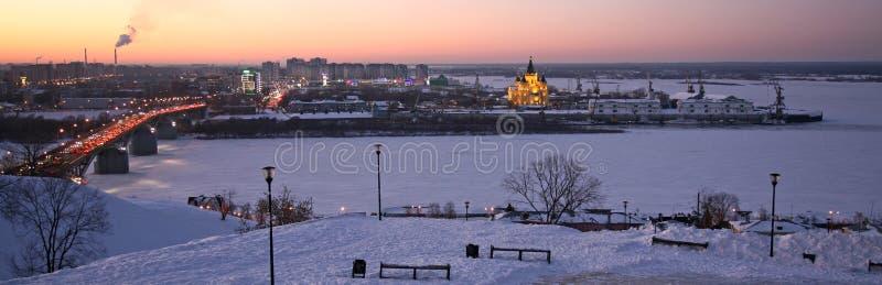 Avond Nizhny Novgorod royalty-vrije stock foto